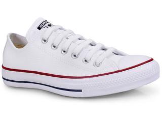 Tênis Unisex All Star Ct04500001 Branco/vermelho/marinho - Tamanho Médio