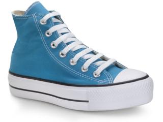 Tênis Unisex All Star Ct012000016 Azul Acido/preto/branco - Tamanho Médio