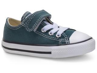 Tênis Masc Infantil All Star Ck08150003 Verde Escuro/preto/branco - Tamanho Médio