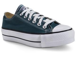 Tênis Feminino All Star Ct09630020 Verde Escuro/preto/branco - Tamanho Médio