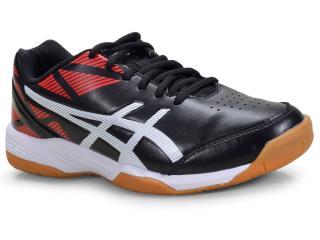 Tênis Masculino Asics R001b.001 Toque br Preto/branco/vermelho - Tamanho Médio