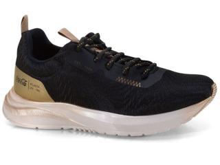Tênis Feminino Coca-cola Shoes Cc1943 Preto/dourado - Tamanho Médio