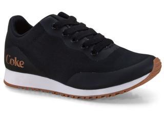 Tênis Feminino Coca-cola Shoes Cc1714 Preto Cobre - Tamanho Médio