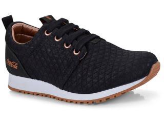 Tênis Feminino Coca-cola Shoes Cc1016 Preto/cobre - Tamanho Médio