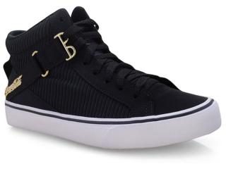 Tênis Feminino Coca-cola Shoes Cc1576 Preto/dourado - Tamanho Médio