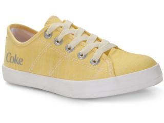 Tênis Feminino Coca-cola Shoes Cc1703 Amarelo - Tamanho Médio