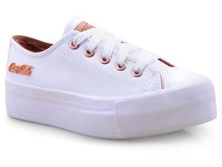 Tênis Feminino Coca-cola Shoes Cc1550 Branco/cobre - Tamanho Médio