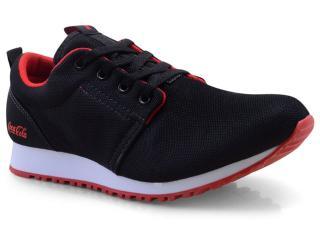 Tênis Masculino Coca-cola Shoes Cc1152 Preto/vermelho - Tamanho Médio