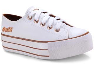Tênis Feminino Coca-cola Shoes Cc1550 Branco - Tamanho Médio