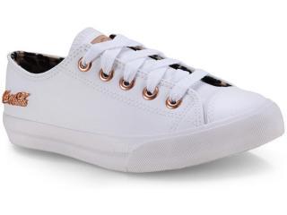Tênis Feminino Coca-cola Shoes Cc1614 Branco/caramelo - Tamanho Médio