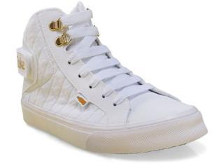 Tênis Feminino Coca-cola Shoes Cc1040 Branco - Tamanho Médio