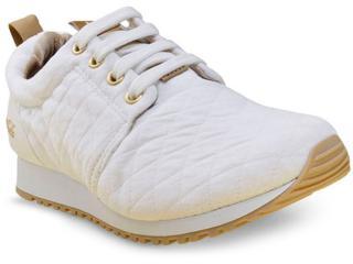 Tênis Feminino Coca-cola Shoes Cc1016 Branco/dourado - Tamanho Médio