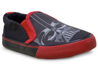 Tênis Masc Infantil Diversao Lf0011 Star Wars Preto/vermelho - Tamanho Médio