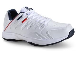 Tênis Masculino Fila 12t054.156 Branco/marinho/vermelho - Tamanho Médio