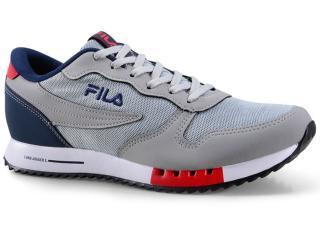 Tênis Masculino Fila 11u335x.3335 Euro Jogger Sport Cinza/marinho/vermelho - Tamanho Médio