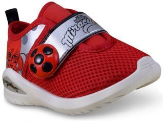 Tênis Fem Infantil Grendene 21705 Ladybug Love d Branco/vermelho/prata - Tamanho Médio