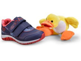 Tênis Masc Infantil Kidy 03300227457 Marinho/azul/vermelho - Tamanho Médio