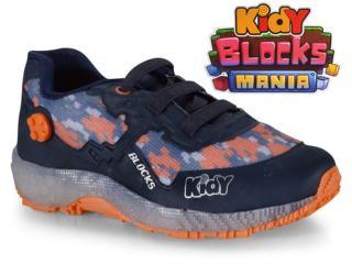 Tênis Masc Infantil Kidy 08200021361 Marinho/laranja - Tamanho Médio