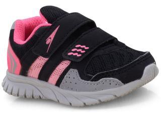 Tênis Fem Infantil Klin 481.052 Preto/pink - Tamanho Médio