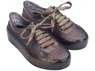 Tênis Feminino Melissa 32896 53785 Street Fluor Edition Vidro Glitter Multicolor - Tamanho Médio