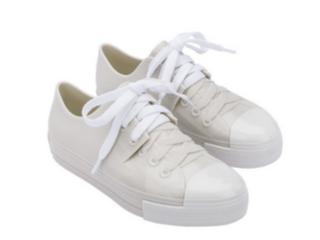 Tênis Feminino Melissa 32941 53388 Squad Sneaker Bege/branco/vermelho - Tamanho Médio