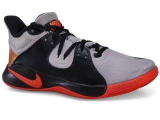 Tênis Masculino Nike Cd0189-006 Flyby Mid Cinza/preto/vermelho - Tamanho Médio