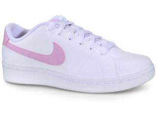 Tênis Feminino Nike Cu9038-101 Court Royale 2 Branco/rosa - Tamanho Médio
