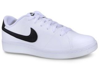 Tênis Masculino Nike Cq9246 Court Royale 2 Branco/preto - Tamanho Médio