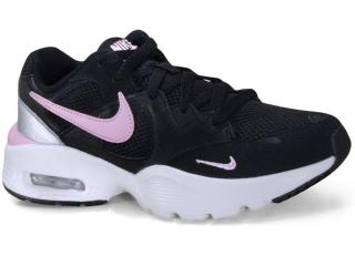 Tênis Feminino Nike Cj1671-005  Air Max Fusion Preto/branco/pink - Tamanho Médio