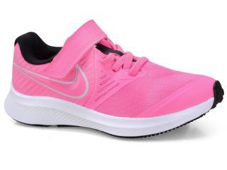Tênis Fem Infantil Nike At1801-603 Star Runner 2  Pink/branco - Tamanho Médio