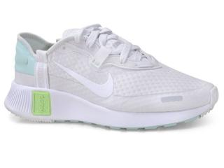 Tênis Feminino Nike Cz5630-013 Reposto Branco/cinza/verde - Tamanho Médio