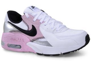 Tênis Feminino Nike Cd5432-109 Air Max Excee Branco/rosa/preto - Tamanho Médio