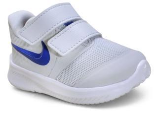 Tênis Masc Infantil Nike At1803-013 Star Runner 2 Cinza/azul - Tamanho Médio