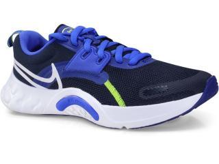 Tênis Masculino Nike Da1350-400 Renew Retaliation Preto/azul - Tamanho Médio