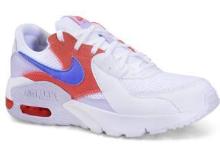 Tênis Feminino Nike Cd5432-115 Air Max Branco/lilas/cereja - Tamanho Médio