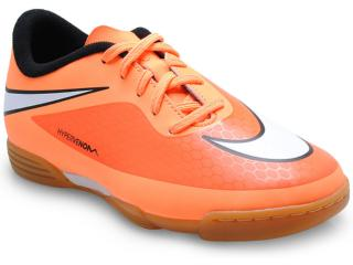Tênis Masc Infantil Nike 599842-800 jr Hypervenom Phade ic Laranja Neon/preto - Tamanho Médio