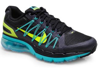 Tênis Masculino Nike 703072-002 Air Max Excellerate Preto/verde - Tamanho Médio