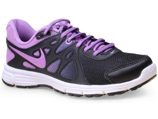 Tênis Feminino Nike 725163-032 Wmns Revolution 2 Msl pr  Preto/lilas - Tamanho Médio