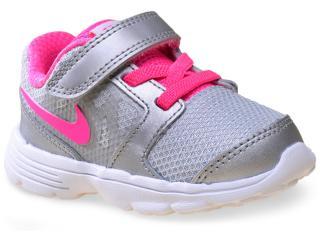 Tênis Fem Infantil Nike 685164-004 Downshifter 6 Cinza/rosa - Tamanho Médio