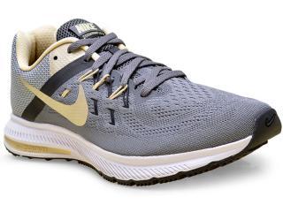 Tênis Masculino Nike 807276-007 Zoom Winflo 2 Chumbo/ouro/preto - Tamanho Médio