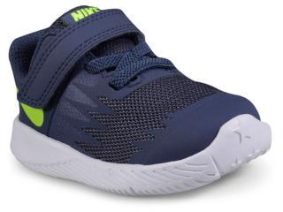 Tênis Masc Infantil Nike 907255-404 Star Runner Marinho/branco - Tamanho Médio