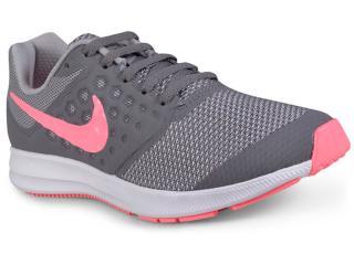 Tênis Fem Infantil Nike 869972-003 Infantil  Downshifter 7 Cinza/pink/branco - Tamanho Médio