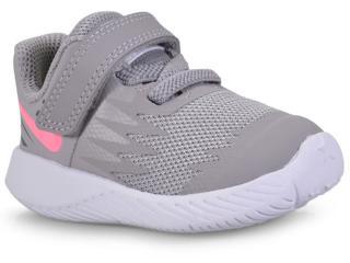 Tênis Fem Infantil Nike 907256-002 Star Runner Cinza/pink - Tamanho Médio