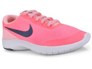 Tênis Fem Infantil Nike 943287-600  Flex Experience rn 7 Rosa Neon - Tamanho Médio