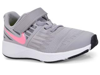 Tênis Fem Infantil Nike 921442-002 Star Runner Cinza/pink - Tamanho Médio