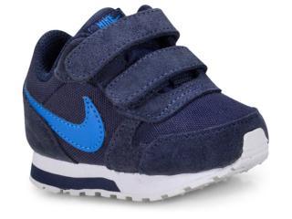 Tênis Masc Infantil Nike 806255-410 md Runner 2 Marinho/branco - Tamanho Médio