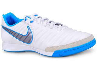 Tênis Masculino Nike Ah7244-107 Tiempo Legendx 7 Academy ic Branco/azul - Tamanho Médio