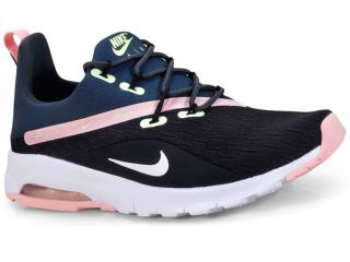 Tênis Feminino Nike Aa2182-002 Air Max Motion Racer 2 Preto/rosa - Tamanho Médio