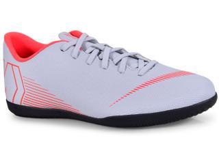 Tênis Masculino Nike Ah7385-060 Mercurial Vaporx 12 Club ic Cinza/coral - Tamanho Médio