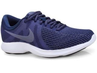 Tênis Masculino Nike 908988-500 Revolution 4 Marinho/branco - Tamanho Médio